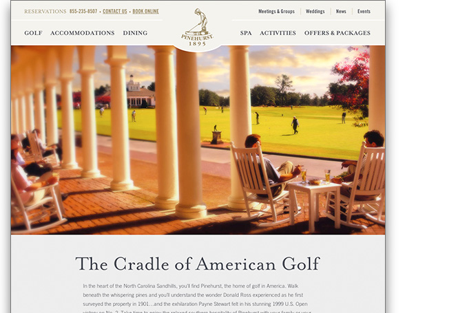 Webpage image for Pinehurst Resort